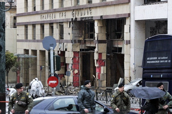 Car Bomb Explodes Outside The Bank of Greece In Athens